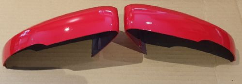 VW POLO 2008 ONWARDS PAIR OF WING MIRROR COVER IN FLASH RED